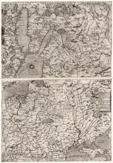 Карта Рэчы Паспалітай old map Polonia
