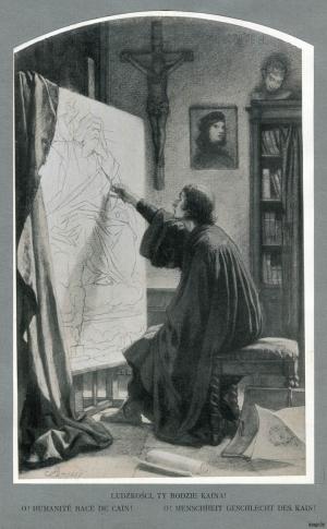 Артур Гротгер, Чалавецтва з роду Каіна