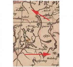 1613 карта ВКЛ тэкст Макоўскі