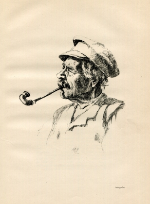 Hermann Struck, litauischer holzfaller