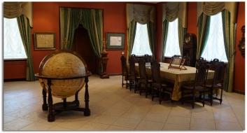Картографический кабинет старинный интерьер