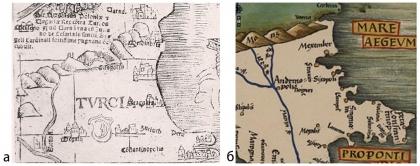 Tabula Moderna Borsine, Servia, Greciae et Sclavonie, Geography, 1513