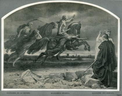 Гротгер, Алегорыя вайны