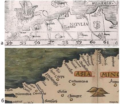 Tabula Nova Asie Minoris, Geography, 1513