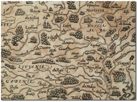 Мюнстер Белая русь на картах