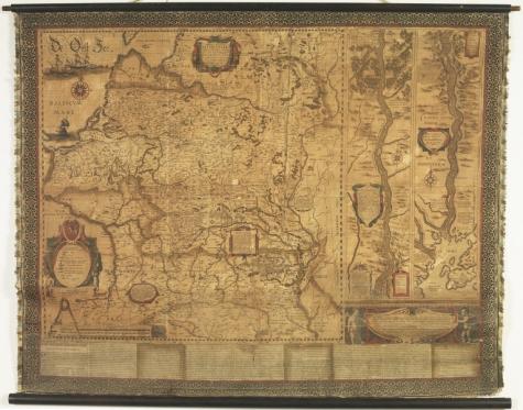 Насценная карта ВКЛ 1613 год. Упсала, Швецыя