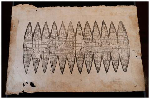 старая карта свету, аўкцыён Крысці
