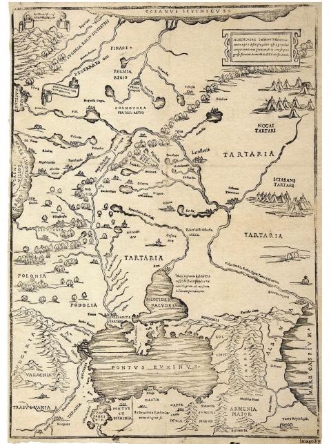 1525 Moscoviae Battista Agnese