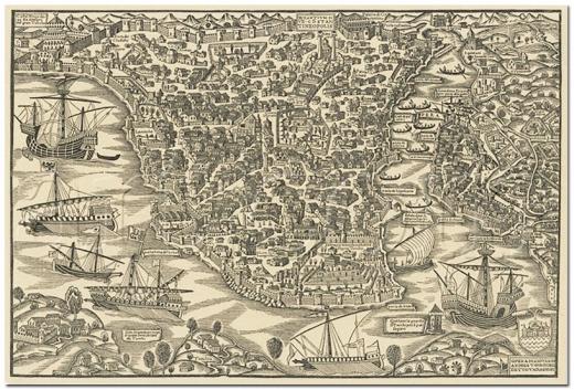 Vavassore 1520, Constantinopolis