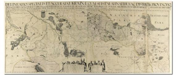 Klencke Atlas, Спецыяльная карта Украіны Баплана