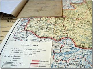 Карта БНР, 1918 год