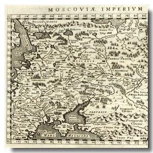 старинная карта россия