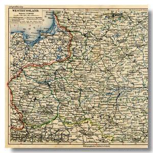 старая карта западной россии