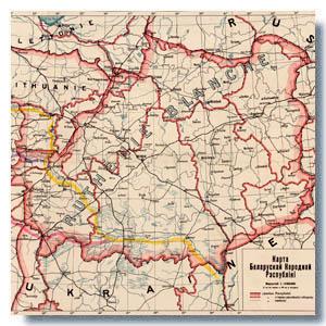старинная карта Беларуси
