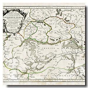 старая карта Беларусь