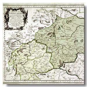 старая карта Вильня
