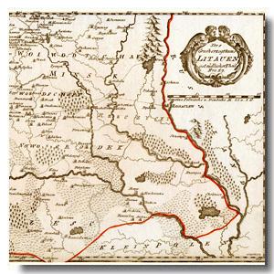 карта Беларусь 18 век