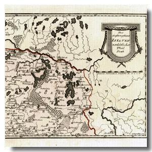 старинная карта Беларусь