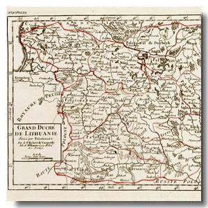 карта ВКЛ 18 век