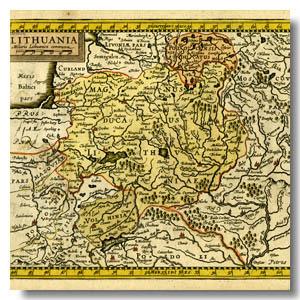 карта ВКЛ 16 век
