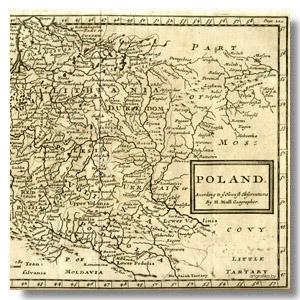 польша старинная карта