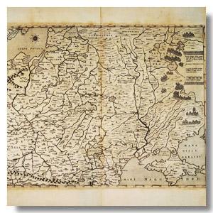 карта Беларусь 16 век