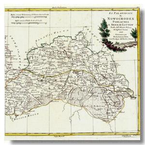 старинная карта полесье