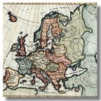 старинная карта европы