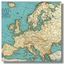 довоенная карта европы