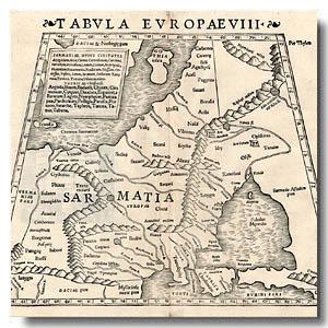 сарматия старинная карта