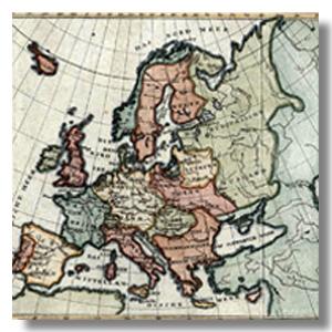 карта Европы антикварная