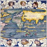 карта мира 16 век