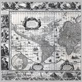 карта мира 17 век