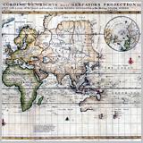 настенная старинная карта